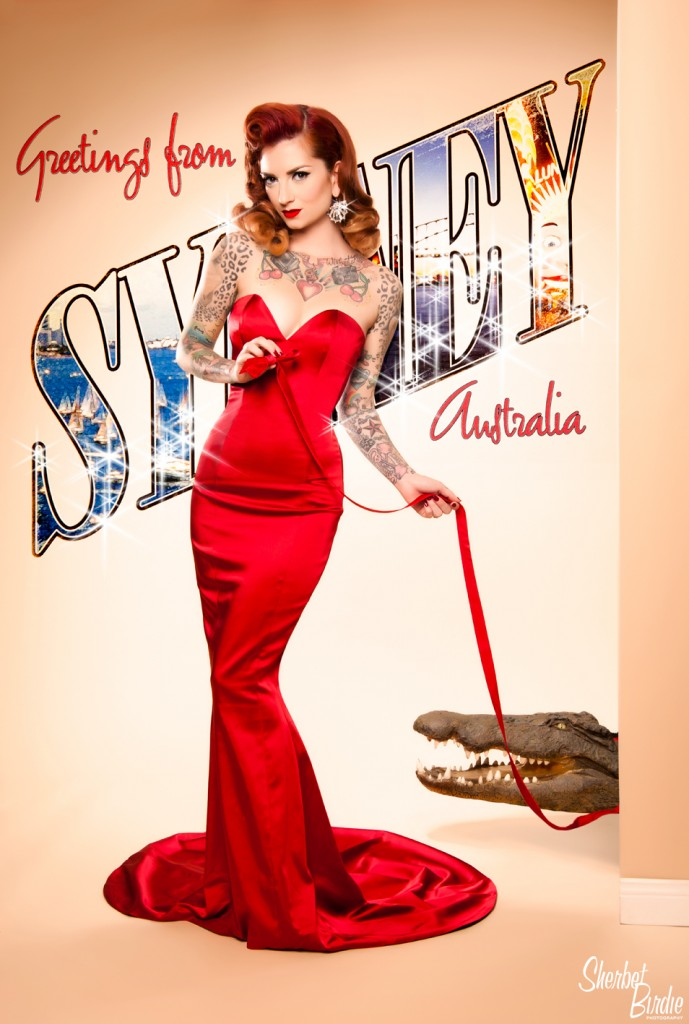 Cherry Dollface for Sherbet Birdie Vintage & Pin-up Photography