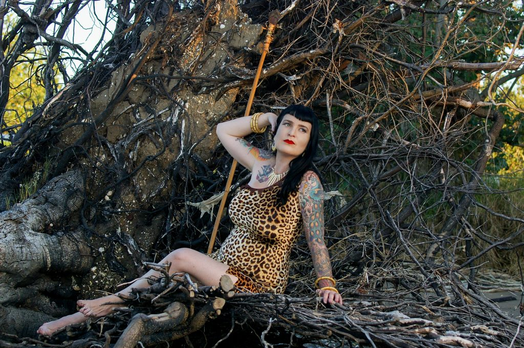 Bettie Page inspired pinup photo