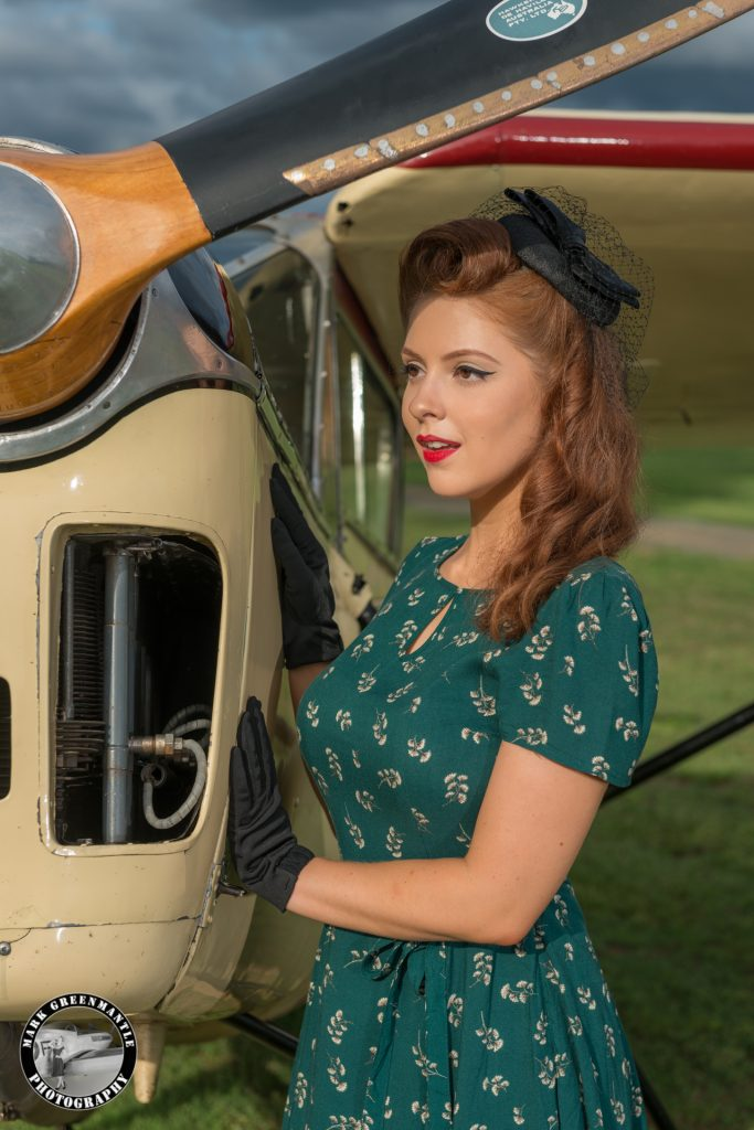 1940s pinup girl with war bird