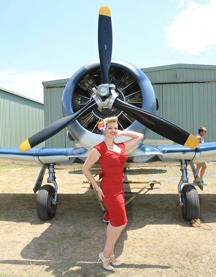 Miss Anna D'Amour Miss Wings and Wheels pin-up
