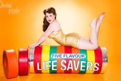 Sherbet Birdie Lifesavers pin-up