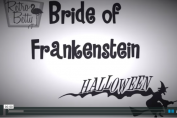 vintage halloween Bride of Frankenstein hair tutorial