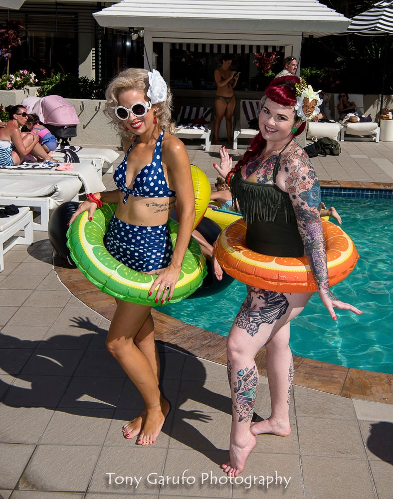 Pinup Pool Party Vintage QT Hotel Gold Coast