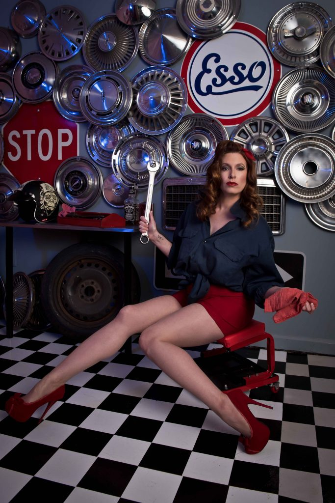 retro betty garage pinup girl vintage