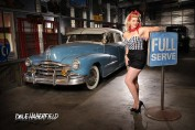 Miss Anna D'Amour hot rod pin-up